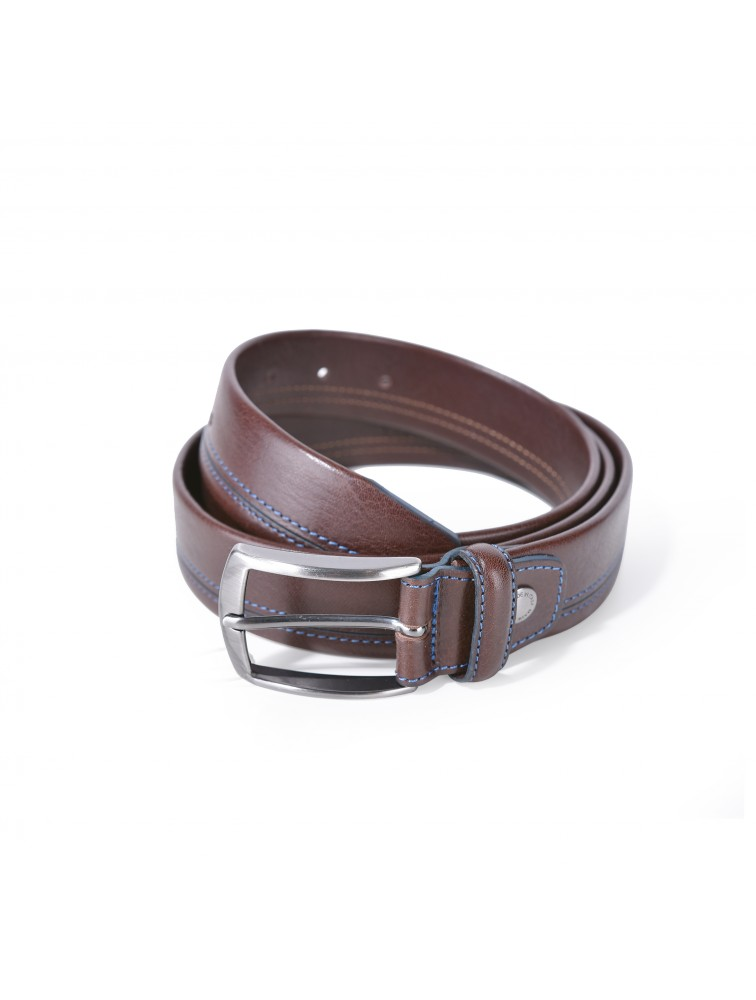 Men Leather Belt 1242 [Made In Italy]