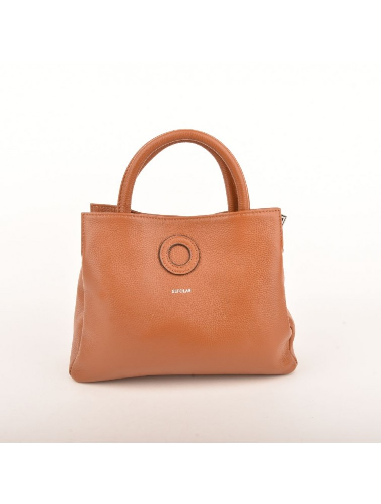 CIRCULAR TOP-HANDLED LADY BAG