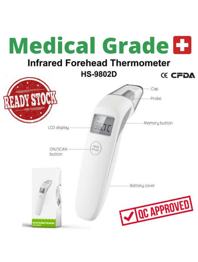 Medical Grade Non Contact Digital Infrared Forehead Thermometer
